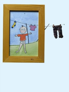 pants washing-line boy, small picture