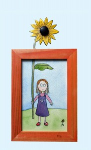 sunflower girl, small picture