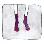 Socks greetings card
