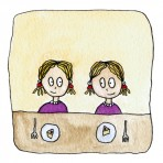 Twins greetings card