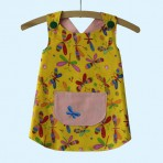 Yellow dragonfly apron