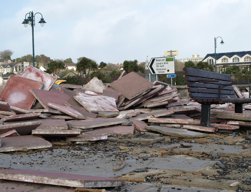 Penzance prom damage © Freya Laughton