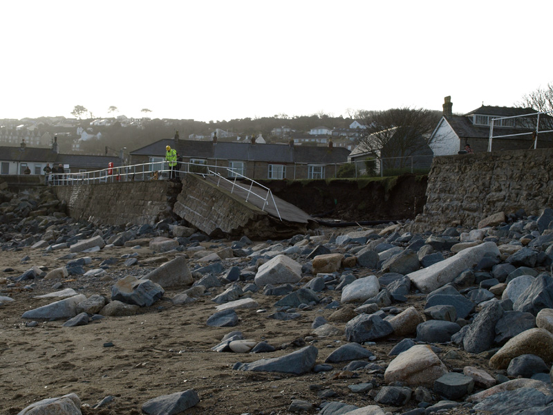 Penzance Newlyn Green damage © Freya Laughton