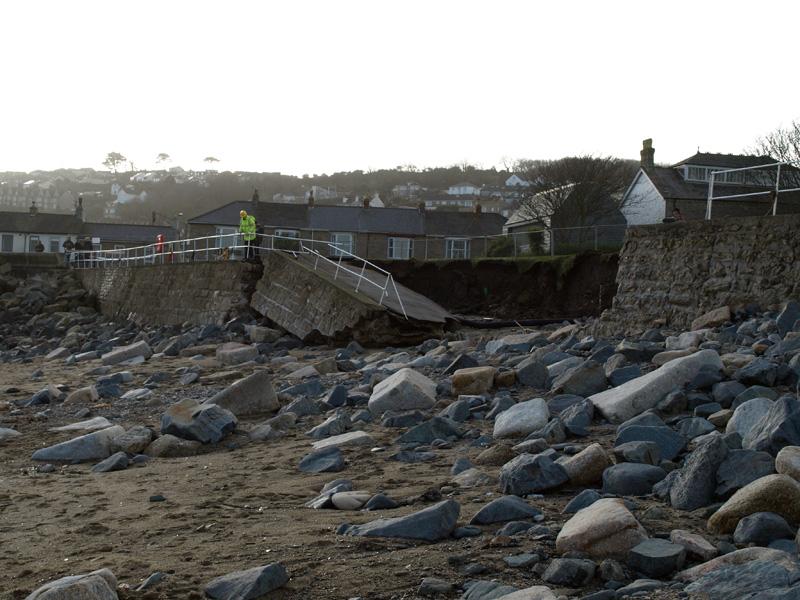 Penzance Newlyn Green damage © Freya Laughton