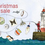 Christmas sale invite 2014 © Freya Laughton